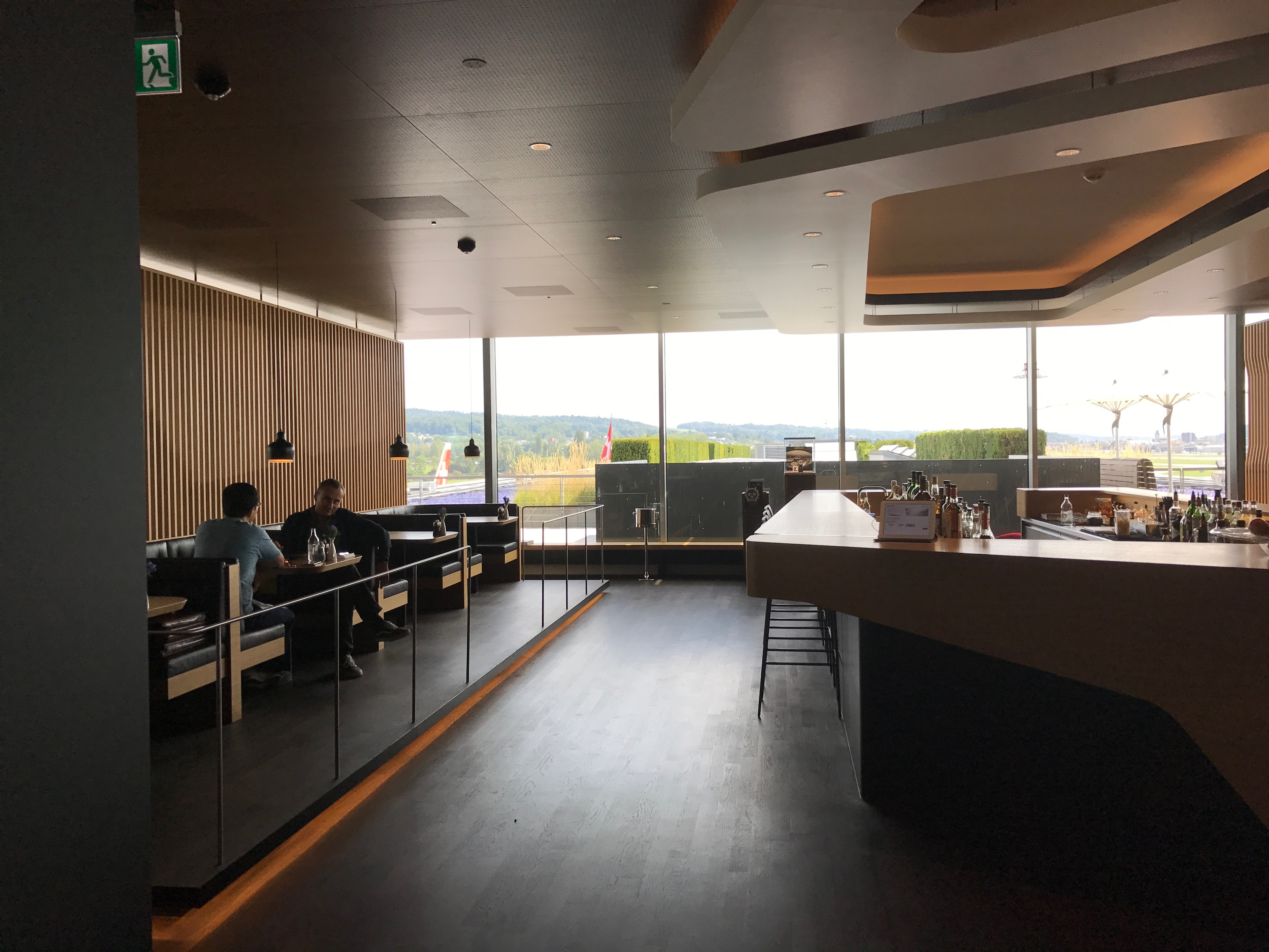 Swiss First Class Lounge at Zurich lounging area