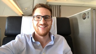The Ginger Travel Guru in Swiss First class