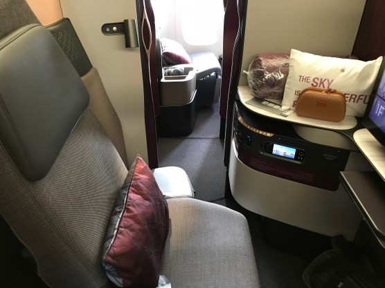 View of seat 1F