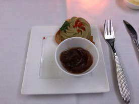 Qatar airways amuse bouche