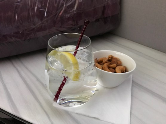 Qatar Airways gin and tonic