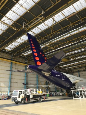 Brussels Airlines A330 vertical stabiliser