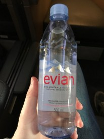 Evian water bottle