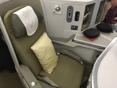 Vietnam Airlines 787-9 business class seat