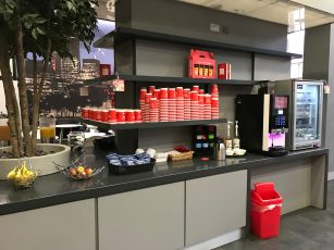 Virgin Trains Kings Cross First Class lounge coffee machine