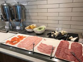 Crowne Plaza Newcastle breakfast cold meats