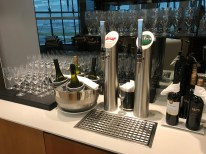 Lufthansa Business Class lounge beer taps