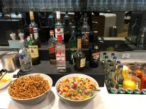 Lufthansa Business Class lounge drink selection