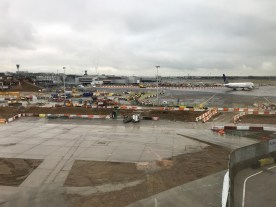 Air Canada Lounge Heathrow view over the apron
