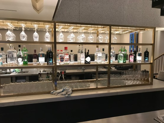 Qantas London Lounge Gin Bar