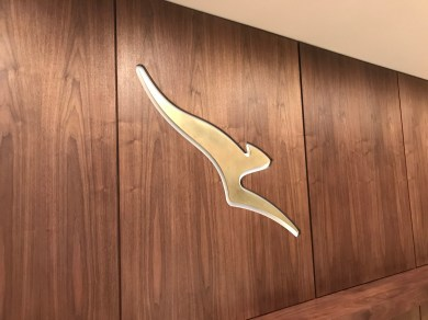 Qantas London Lounge kangaroo