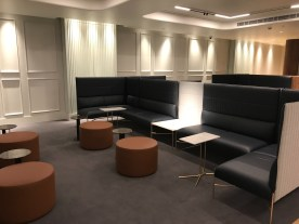 Qantas London Lounge enclosed seating area