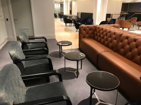 Qantas London Lounge sofas