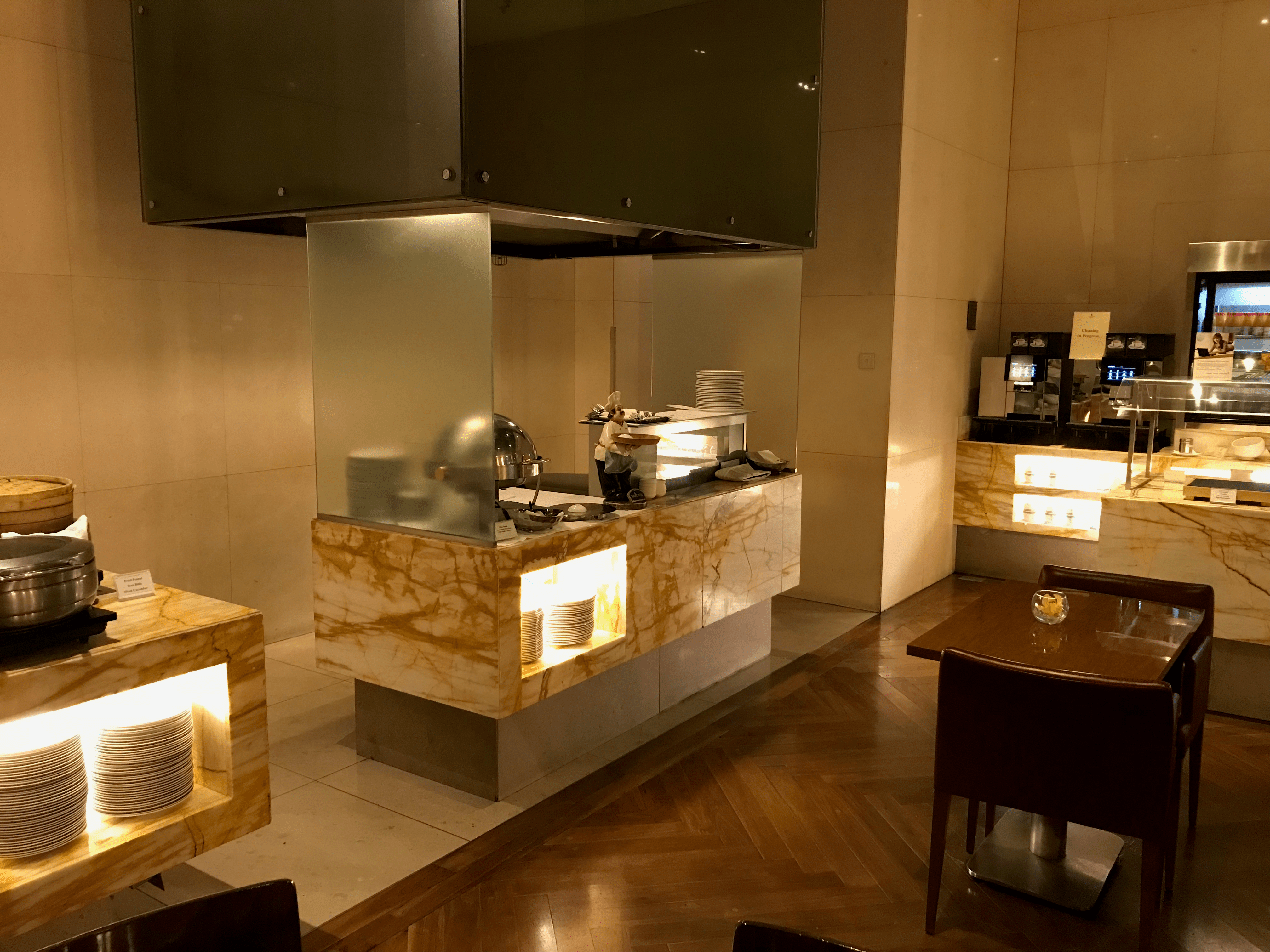 Singapore Airlines First Class lounge hot food