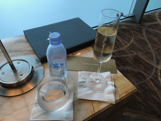 Singapore Airlines Private Room champagne