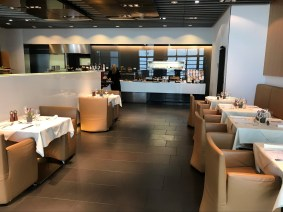 Lufthansa First Class Lounge dining area