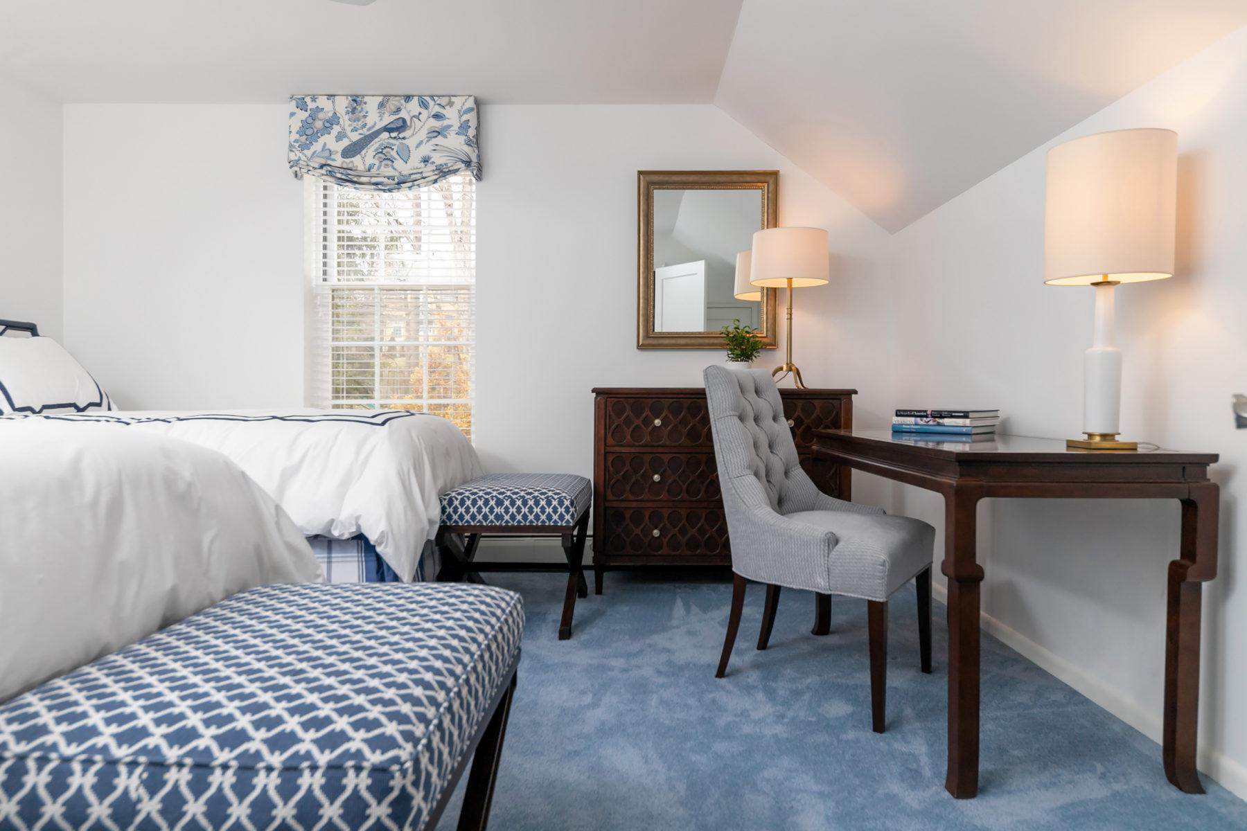 Guest Bedroom In Haverford Pa Ginger Woods Design