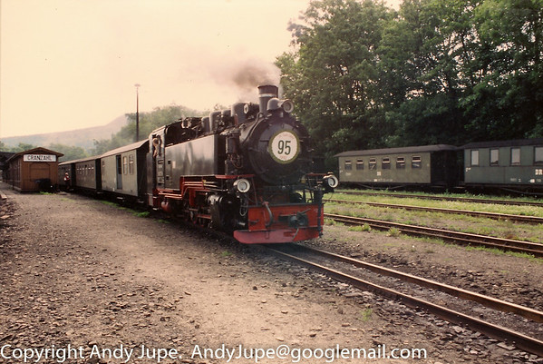 099 737-9 stands at Cranzahl station on the 19th of July 1992