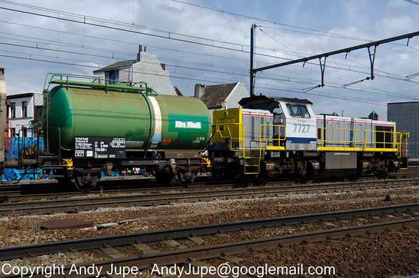 German Registered but owned by On Rail Gmbh, 2 axle tank wagon Zs 23 80 7356 000-1 passes through Antwerp Berchum in Belgium on the 29th of July 2013