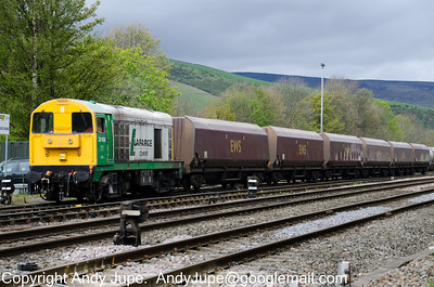 20 168 sits in Earles Sidings with a rake of HTAs on the 10th of May 2012