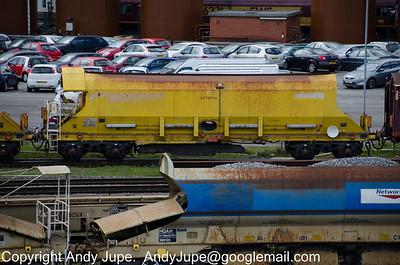 YDA DR92213 'Octopus' wagon passes through Toton Yardon the 8th May 2012