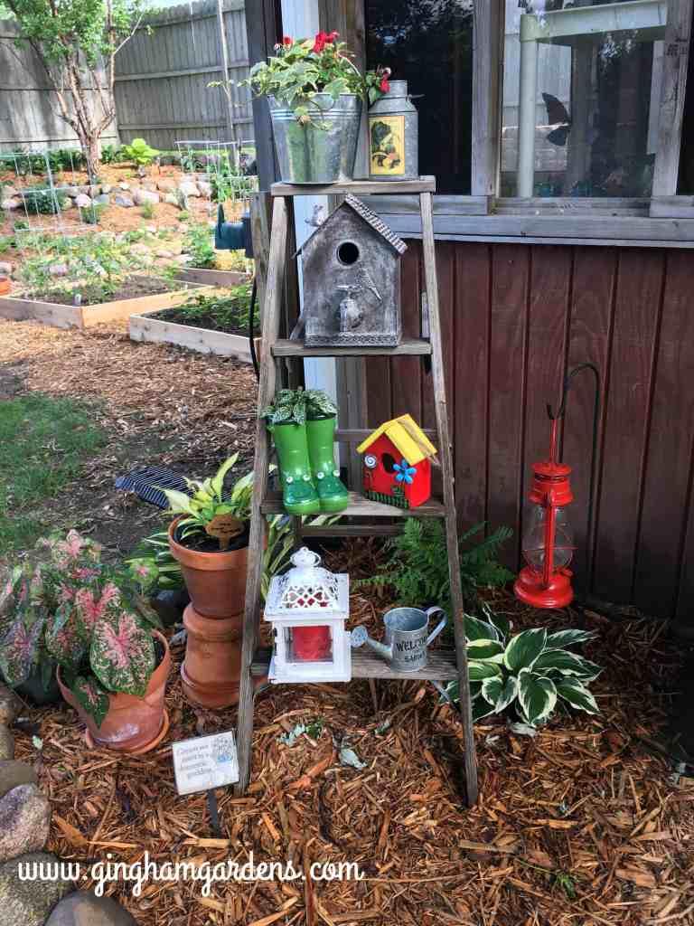Gardening Recap - Ladder in the Garden