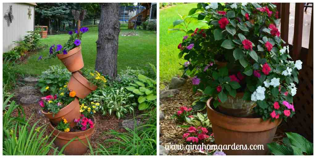 Creative Flower Container Gardening - Tipsy Pots