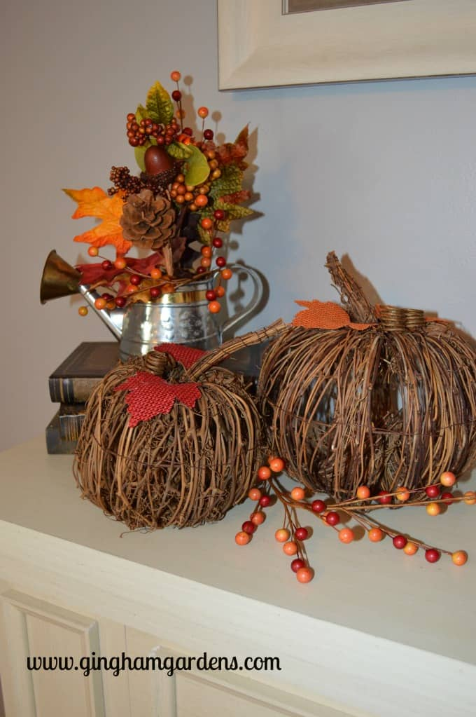 Fall Decor - Country Mantel