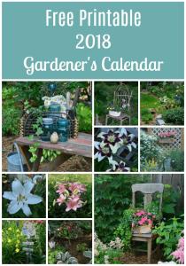 2018 Gardening Calendar