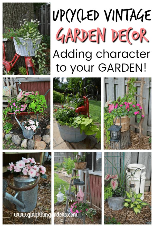 Upcycled Vintage Garden Decor