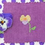 Sweet Viola cross stitch