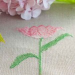 Pretty pink flower cross stitch