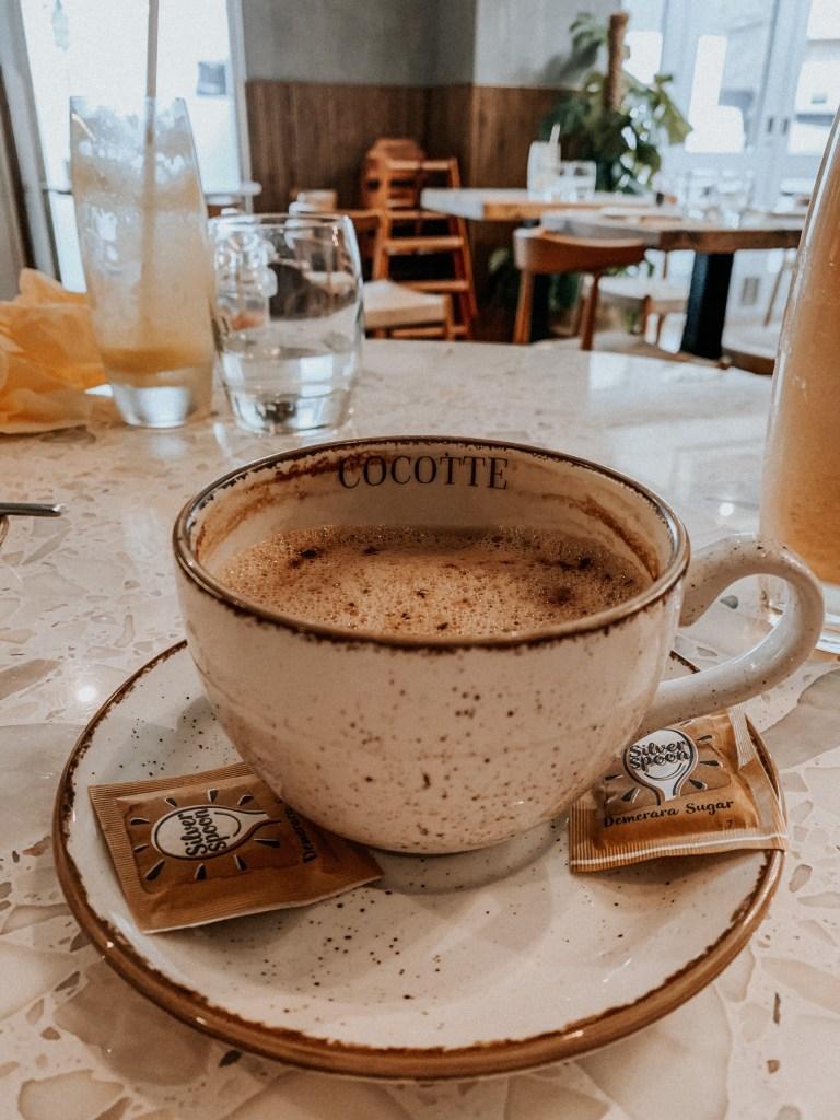 Oat cappuccino close-up