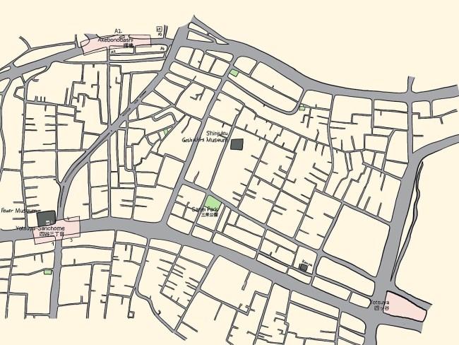 Karte von Yotsuya