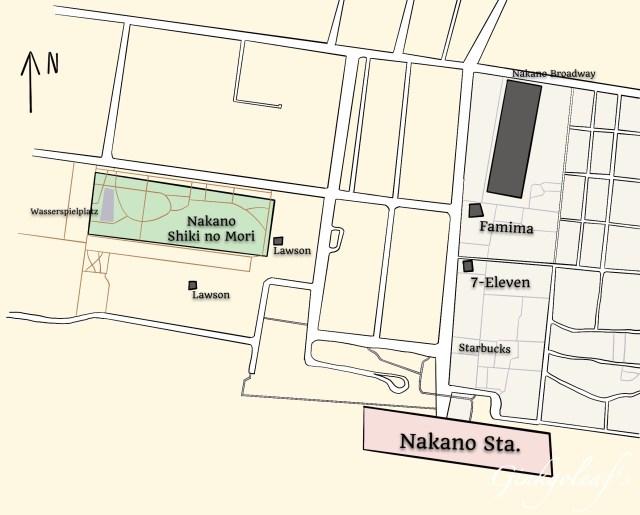 Karte Nakano