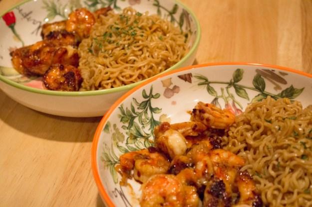 Asian Orange Sauce - Shrimp + Ramen 2