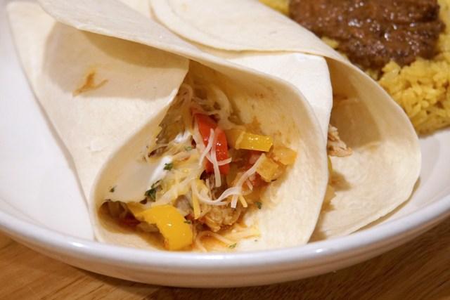 Slow Cooker Chicken Fajitas-Plated