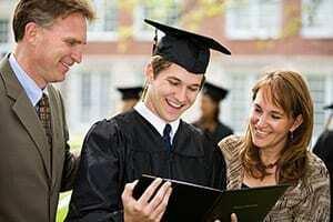 college male graduate