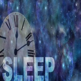 sleep with clock in background
