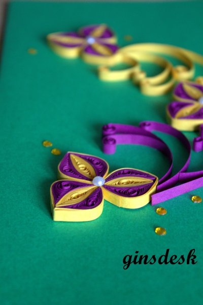 Blackcurrent Quilled Card2