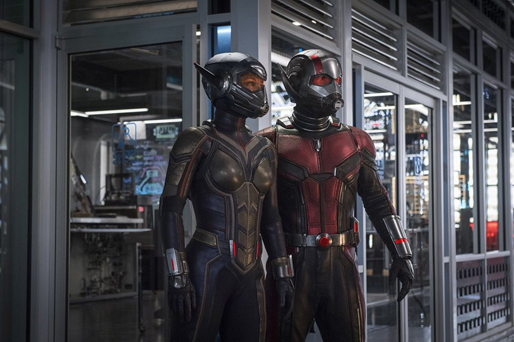 """Paul Rudd and Evangeline Lily as """"Ant-Man and The Wasp"""""""