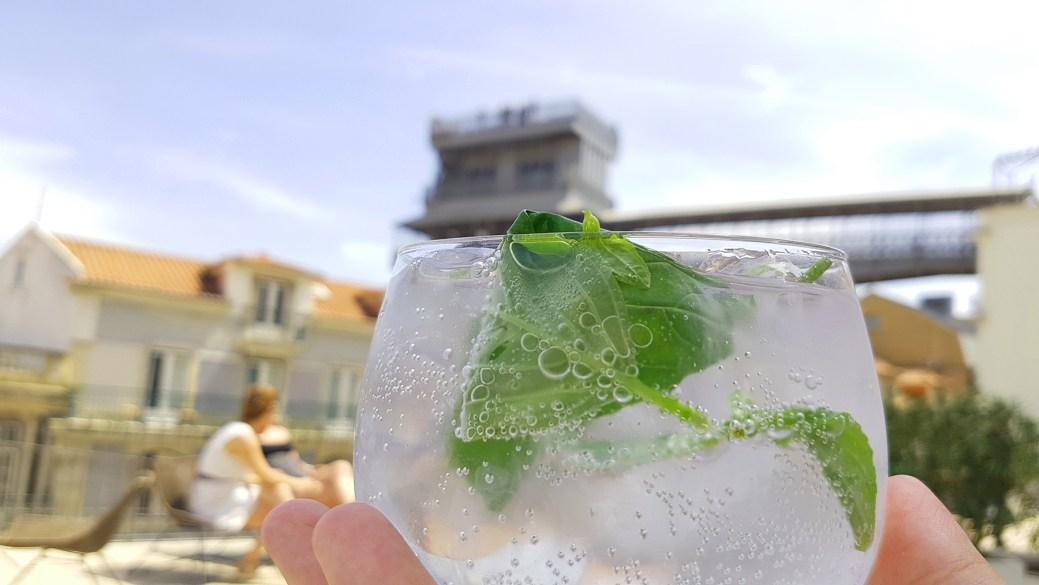 Gin Tonic at Topo Chiado in Lisbon