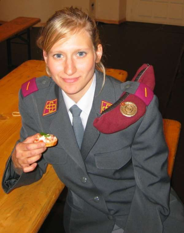 Switzerland female soldier