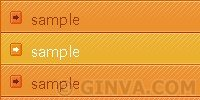 Orange Pumpkin - Vertical CSS Menu