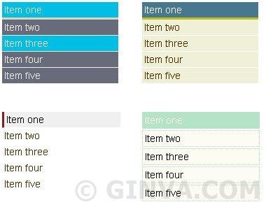 Simple CSS vertical menus