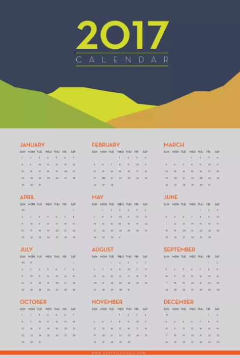 15 Free Printable 2017 Wall Calendar Templates Ginva