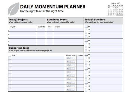 Organizer Free Template Printable Daily