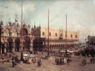 """Canaletto, """"Piazza San Marco looking South-East"""" (1740)"""