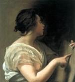 """Diego Velázquez, """"Sibyl with Tabula Rasa"""" (1648)"""