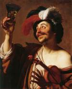 "Gerrit van Honhorst, ""The happy violinist with a glass of wine"" (1624)"